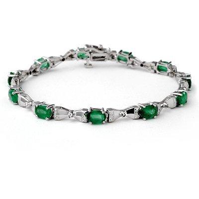 Overstock 6.11ctw Diamond & Emerald Bracelet 14K Gold
