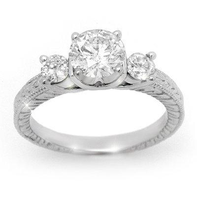 Famous Engagement Ring 1.50ctw Diamond 14K White Gold