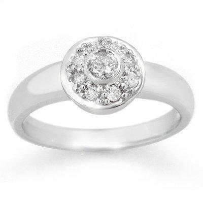 Certified 0.35ctw Diamond Anniversary Ring White Gold
