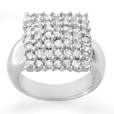 Certified 2.0ctw Diamond Right-Hand Ring 14K White Gold
