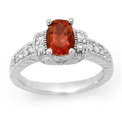 ACA Certified 1.58ct Pink Tourmaline & Diamond Ring 14K
