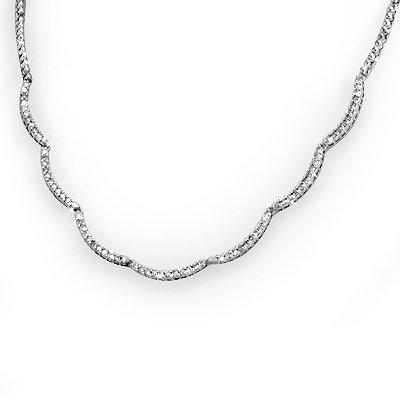 Certified 2.0ctw Diamond Tennis Necklace 14K White Gold