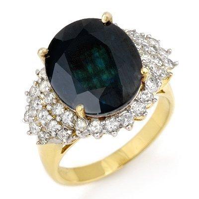 ACA Certified 9.88ctw Sapphire & Diamond Ring 14K Gold