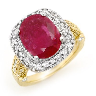 Overstock 9.4ctw ACA Certified Ruby & Diamond Ring Gold