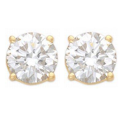 Overstock Solitaire 1.0ctw Diamond Stud Earrings Gold