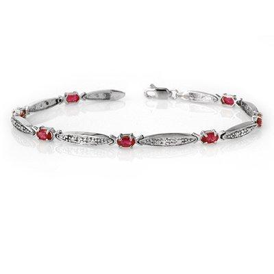 Overstock 2.75ctw Ruby & Diamond Bracelet White Gold