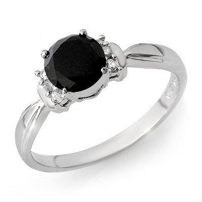 ACA Certified 1.0ct White/Black Diamond Ring 14K Gold