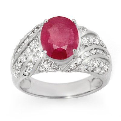 Men's Ring 7.25ctw ACA Certified Ruby & Diamond 14K