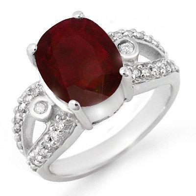 Overstock 4.0ctw Ruby & Diamond Ladies Ring White Gold