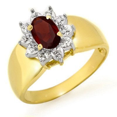 ACA Certified .50ctw Garnet Ladies Ring in Yellow Gold