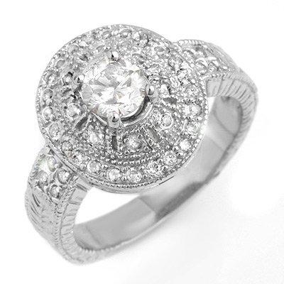Diamond 1.33ct Engagement Anniversary Ring 14K W Gold