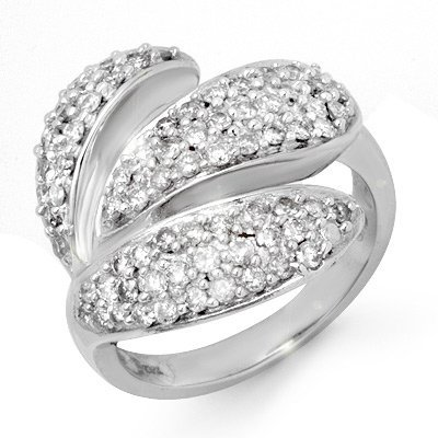 Right-Hand 1.0ctw Diamond Ladies Ring White Gold 14K