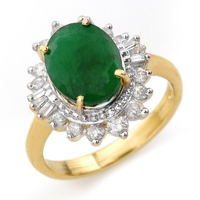 ACA Certified 4.85ctw Emerald & Diamond Ring 14K Gold