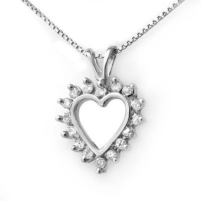 Certified 0.25ctw Diamond Ladies Pendant White Gold