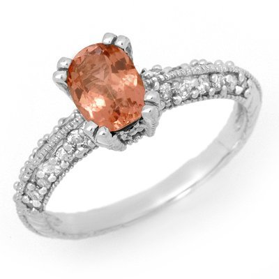 Certified 1.55ctw Pink Tourmaline & Diamond Ring Gold