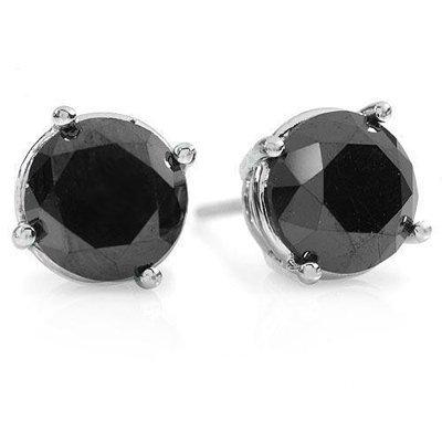 Overstock 2.0ctw Black Diamond Stud Earrings 14K Gold
