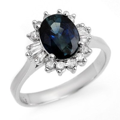 Certified 2.29ctw Sapphire & Diamond Ring 14K Gold