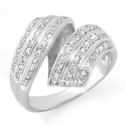 Overstock 0.70ct Diamond Right-Hand Ring 14K White Gold