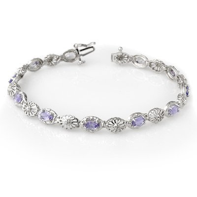 Certified 2.62ctw Tanzanite & Diamond Bracelet Gold