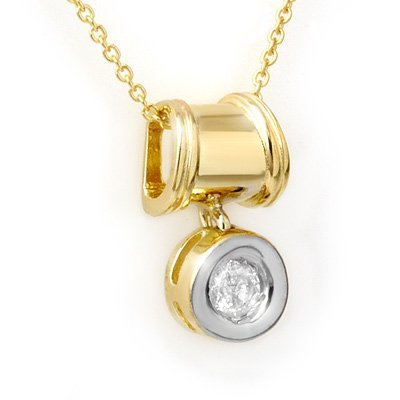 Overstock Certified 0.16ctw Diamond Pendant Yellow Gold