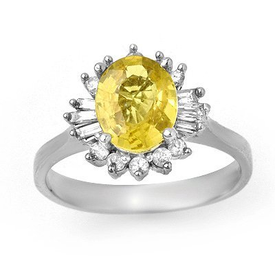 Certified 2.25ctw Diamond & Sapphire Ring 14K Gold
