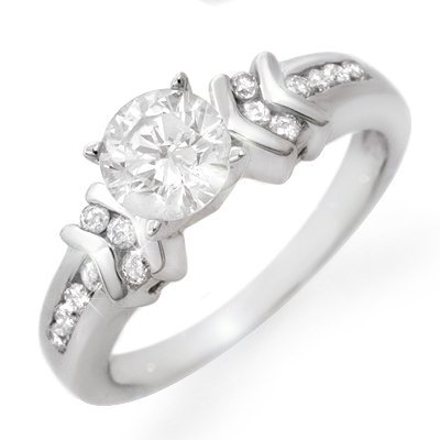 Famous Engagement Ring 1.10ctw Diamond 14K White Gold