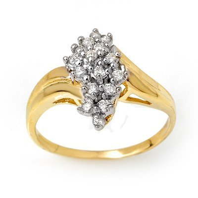 ACA Certified 0.25ctw Diamond Ladies Ring Yellow Gold