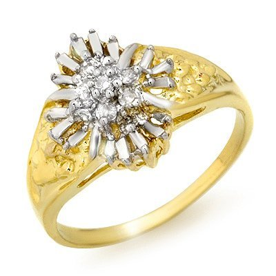Certified Quality .10ct Diamond Ladies Ring Yellow Gold