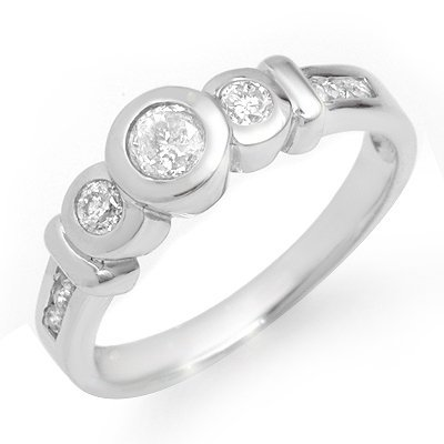 Certified Three-Stone 0.55ctw Diamond Anniversary Ring