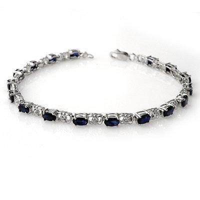 Overstock 6.10ctw Sapphire & Diamond Tennis Bracelet