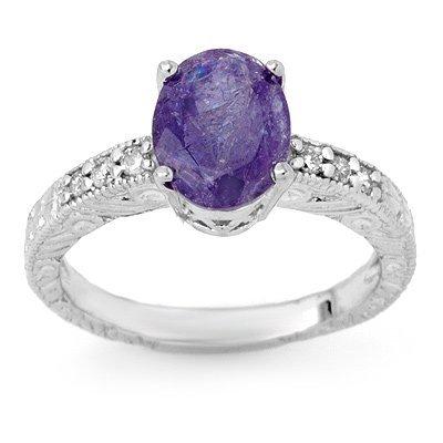 Certified 2.68ctw Diamond & Tanzanite Ring 14K Gold