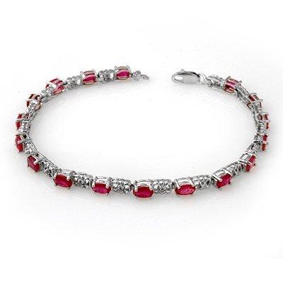 Overstock 7.12ctw Certified Ruby & Diamond Bracelet