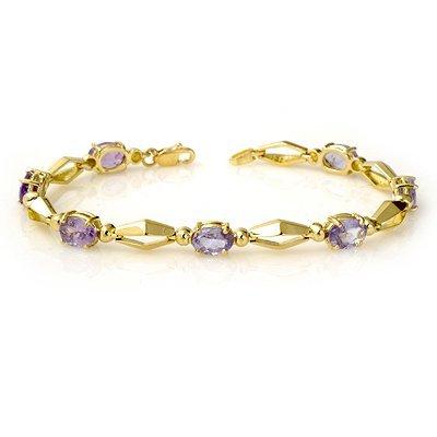 Overstock 6.0ctw Tanzanite Ladies Bracelet Yellow Gold
