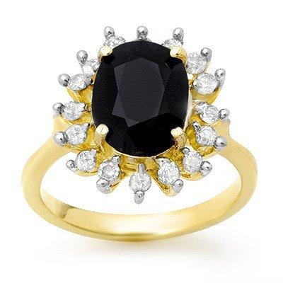 Certified 3.67ctw Sapphire & Diamond Ring Yellow Gold