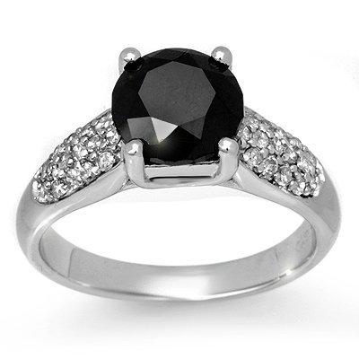 Overstock 2.75ctw White & Black Diamond Ring White Gold