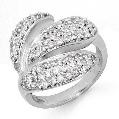 Right-Hand 1.0ctw Diamond Ladies Ring White Gold 14K