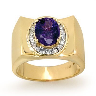 Overstock 2.83ctw Diamond & Tanzanite Men's Ring Gold
