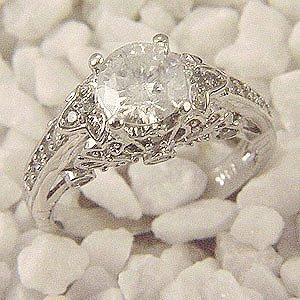 CERTIFIED 2.0ct DIAMOND ENGAGEMENT ANNIVERSARY RING 14K