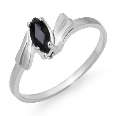 ACA Certified 0.35ctw Sapphire Ladies Ring White Gold