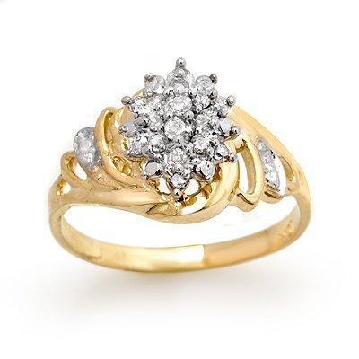 ACA Certified 0.25ctw Diamond Ladies Ring Yellow Gold