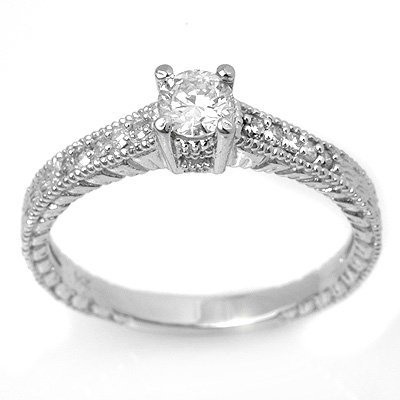 Overstock 0.70ctw Diamond Engagement Anniversary Ring
