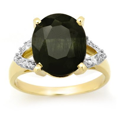 Certified 6.58ctw Sapphire & Diamond Ring Gold
