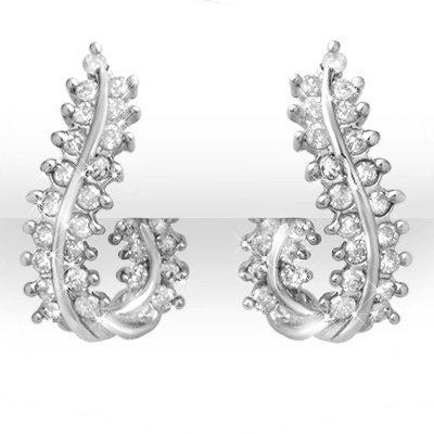 Overstock 1.0ctw Certified Diamond Earrings 14K Gold