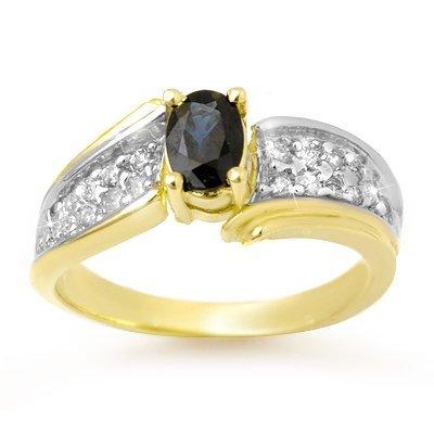 Certified 1.40ctw Sapphire & Diamond Ring Yellow Gold