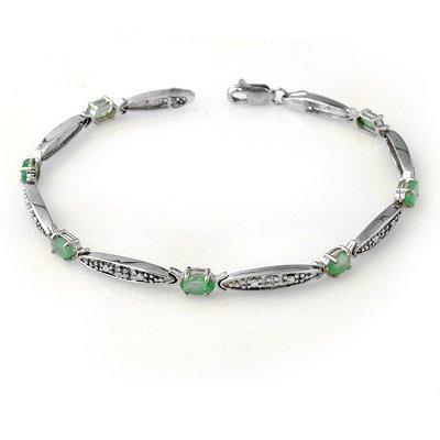 ACA Certified 2.07ctw Emerald & Diamond Bracelet Gold