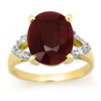 Overstock 6.50ctw Ruby & Diamond Ring 10kt Yellow Gold