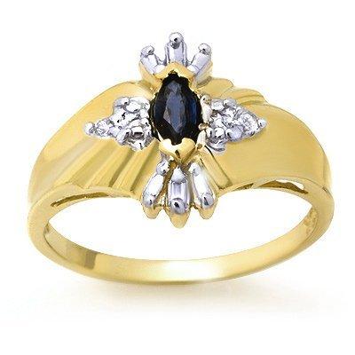 Vintage Style 0.22ctw Diamond & Sapphire Ring Gold