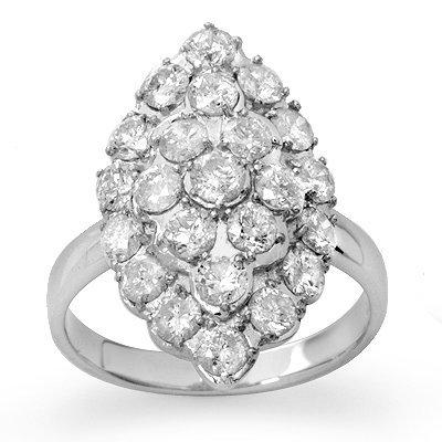 Certified 2.0ctw Diamond Ladies Ring 14K White Gold