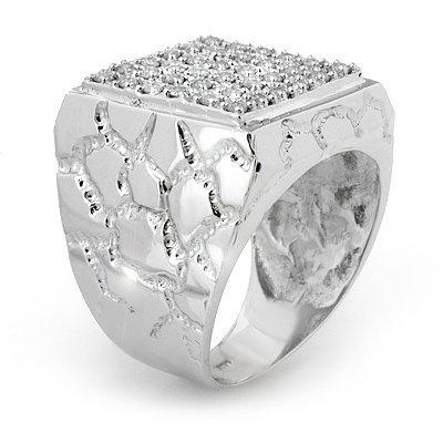 Men's 1.0ctw Certified Diamond Ring 20 Grams 14K Gold