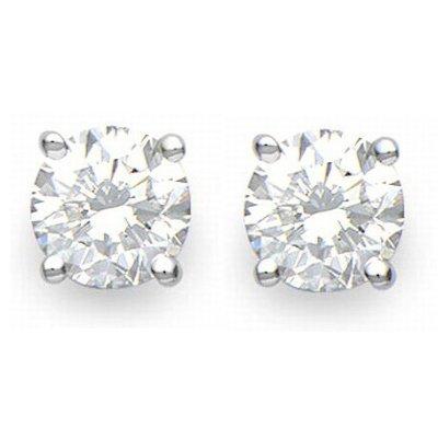 GENUINE SOLITAIRE 3.25 ctw DIAMOND STUD EARRINGS GOLD